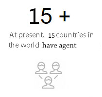 At present, 15 countries in the world have agent